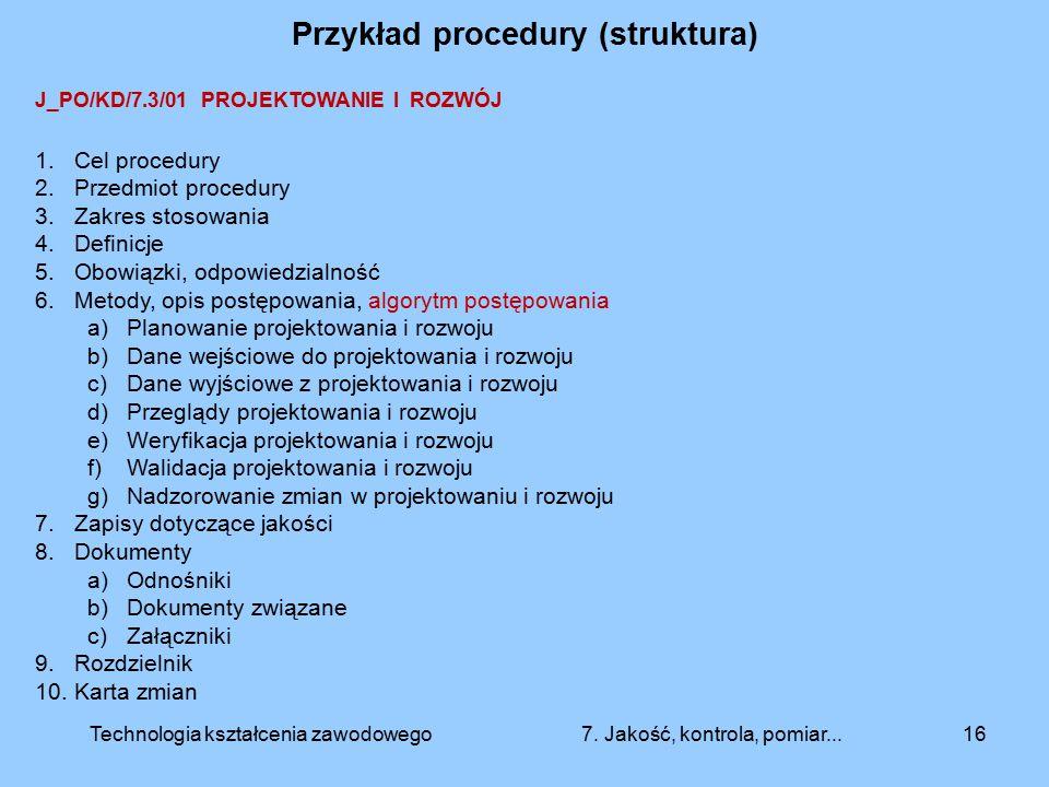 Przykład procedury (struktura)