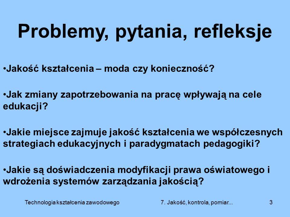 Problemy, pytania, refleksje