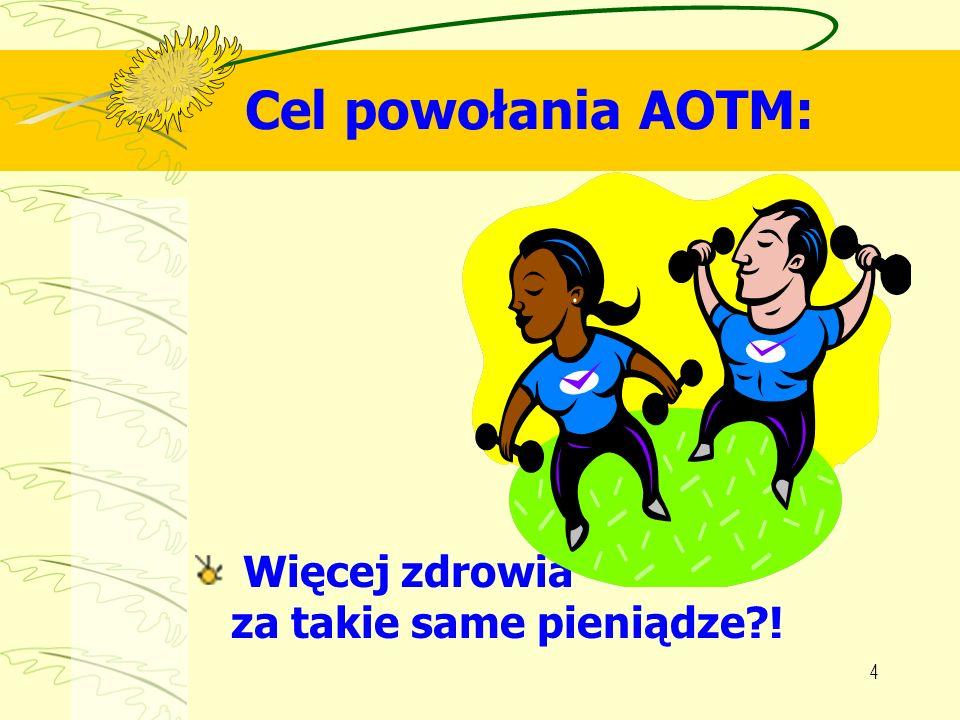 Cel powołania AOTM: Więcej zdrowia za takie same pieniądze !