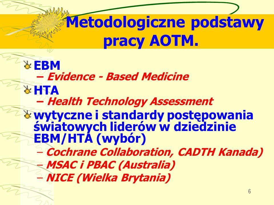 Metodologiczne podstawy pracy AOTM.