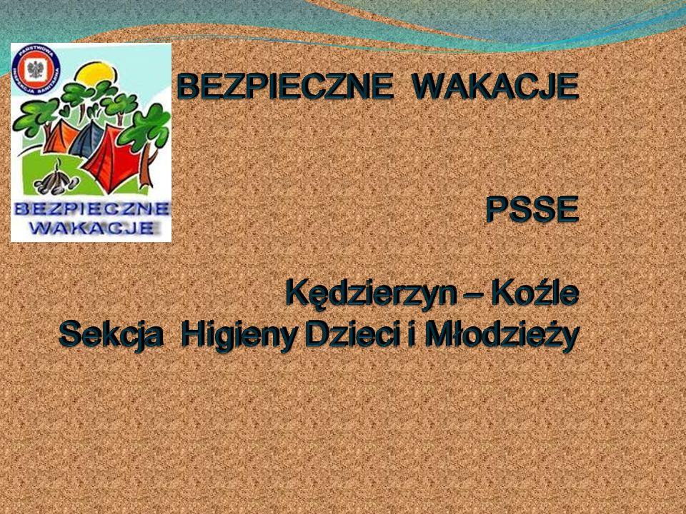 BEZPIECZNE WAKACJE PSSE Kędzierzyn – Koźle Sekcja Higieny Dzieci i Młodzieży
