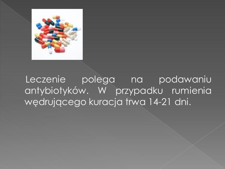 Leczenie polega na podawaniu antybiotyków