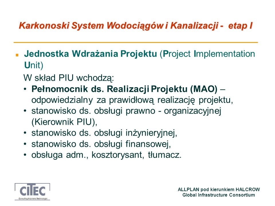 Jednostka Wdrażania Projektu (Project Implementation Unit)