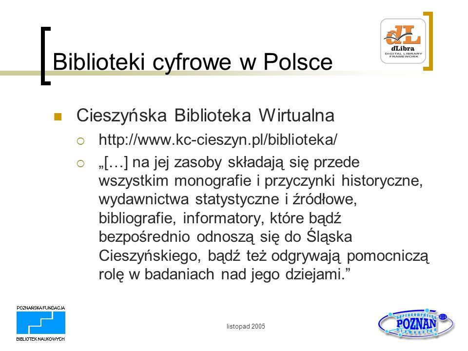 Biblioteki cyfrowe w Polsce
