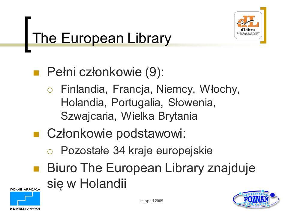 The European Library Pełni członkowie (9): Członkowie podstawowi: