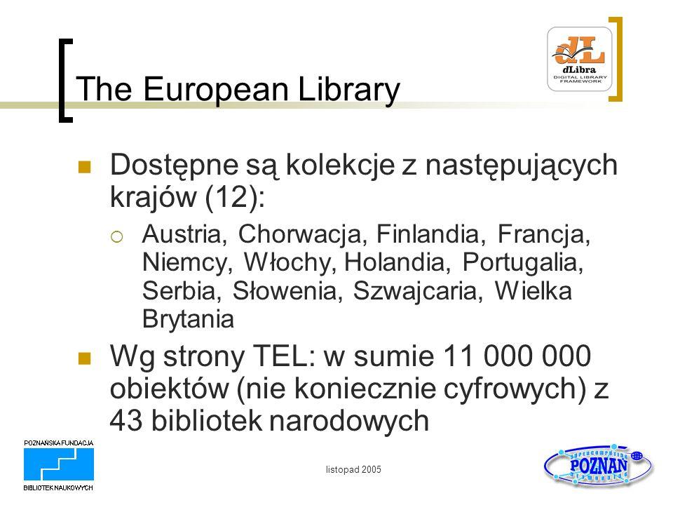 The European Library Dostępne są kolekcje z następujących krajów (12):
