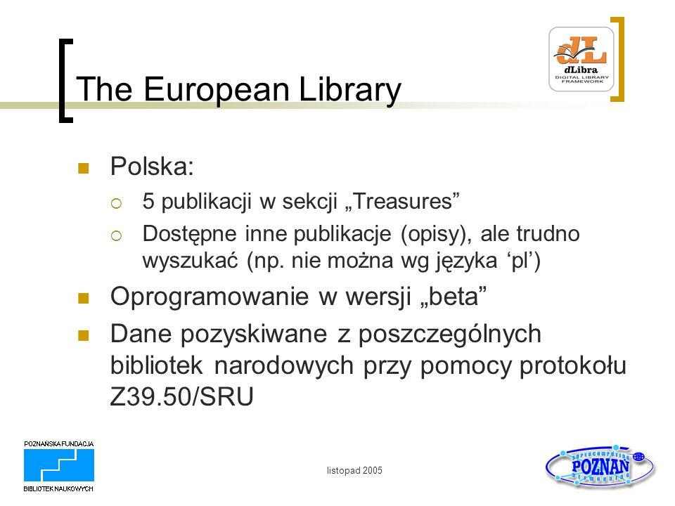 """The European Library Polska: Oprogramowanie w wersji """"beta"""