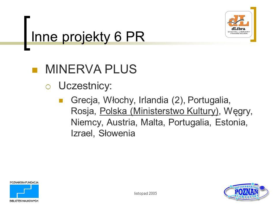 Inne projekty 6 PR MINERVA PLUS Uczestnicy: