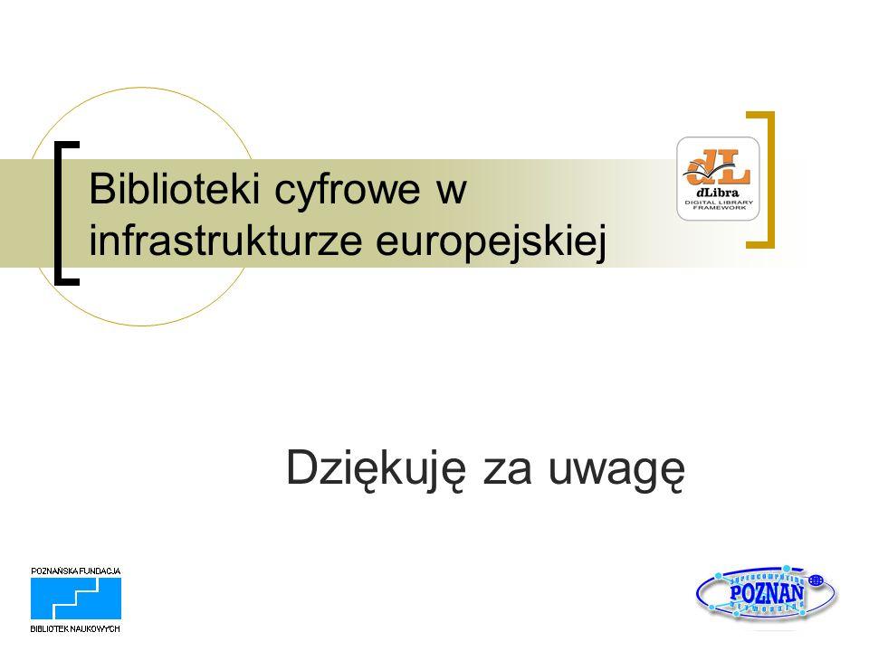 Biblioteki cyfrowe w infrastrukturze europejskiej