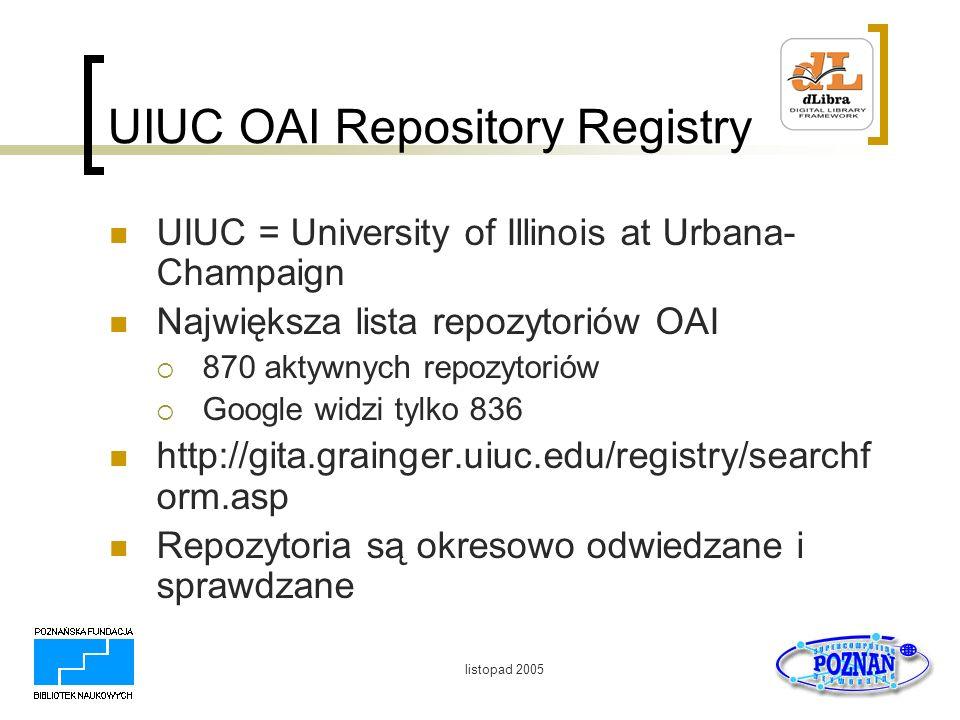 UIUC OAI Repository Registry