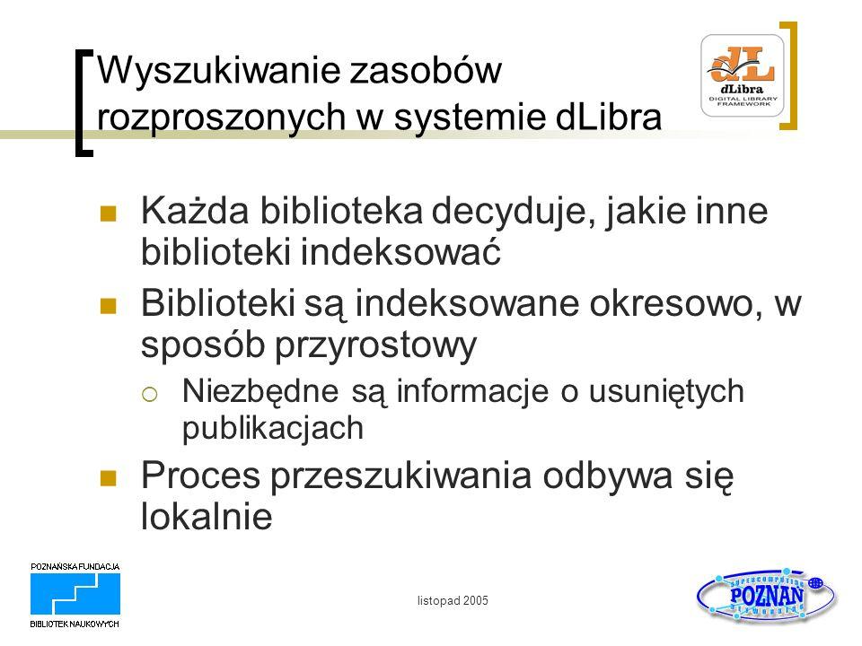 Wyszukiwanie zasobów rozproszonych w systemie dLibra