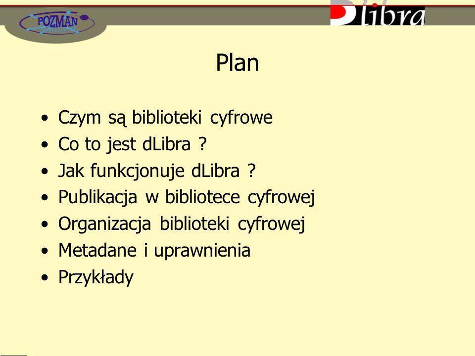 Plan Czym są biblioteki cyfrowe Co to jest dLibra