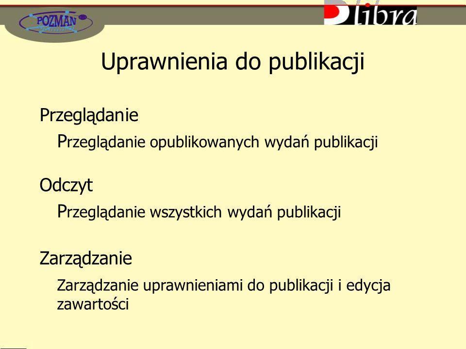 Uprawnienia do publikacji