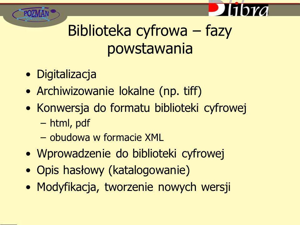 Biblioteka cyfrowa – fazy powstawania