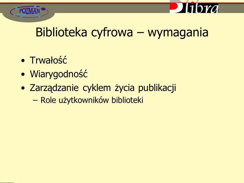 Biblioteka cyfrowa – wymagania