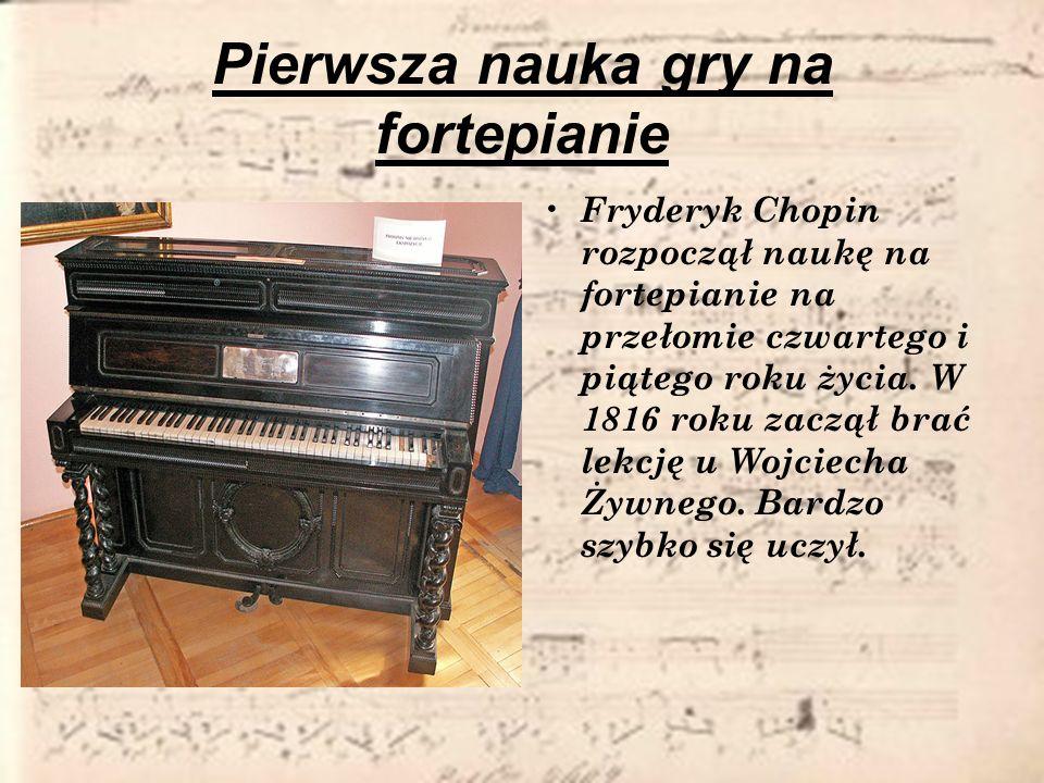 Pierwsza nauka gry na fortepianie