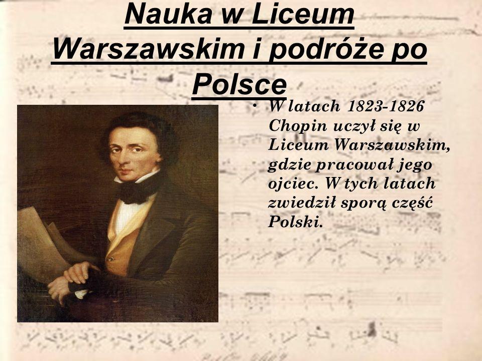 Nauka w Liceum Warszawskim i podróże po Polsce