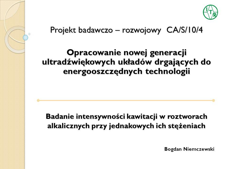 Projekt badawczo – rozwojowy CA/S/10/4