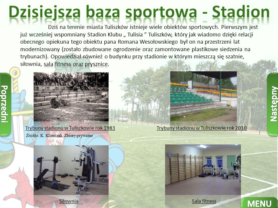 Dzisiejsza baza sportowa - Stadion