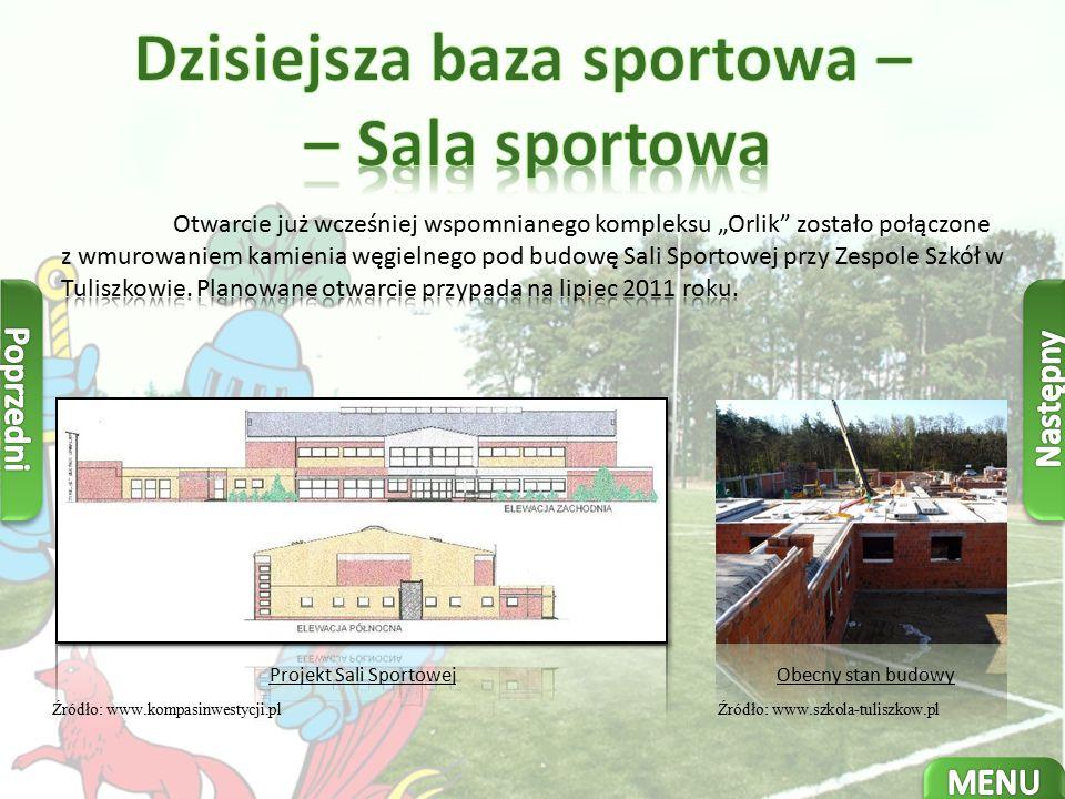 Dzisiejsza baza sportowa – – Sala sportowa