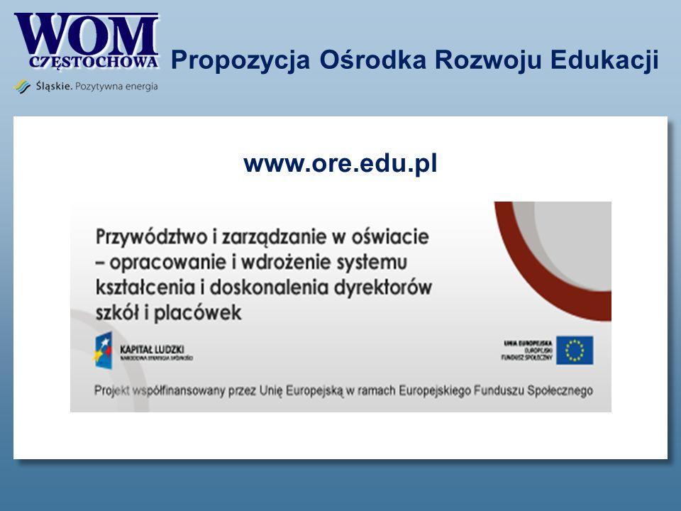 Propozycja Ośrodka Rozwoju Edukacji