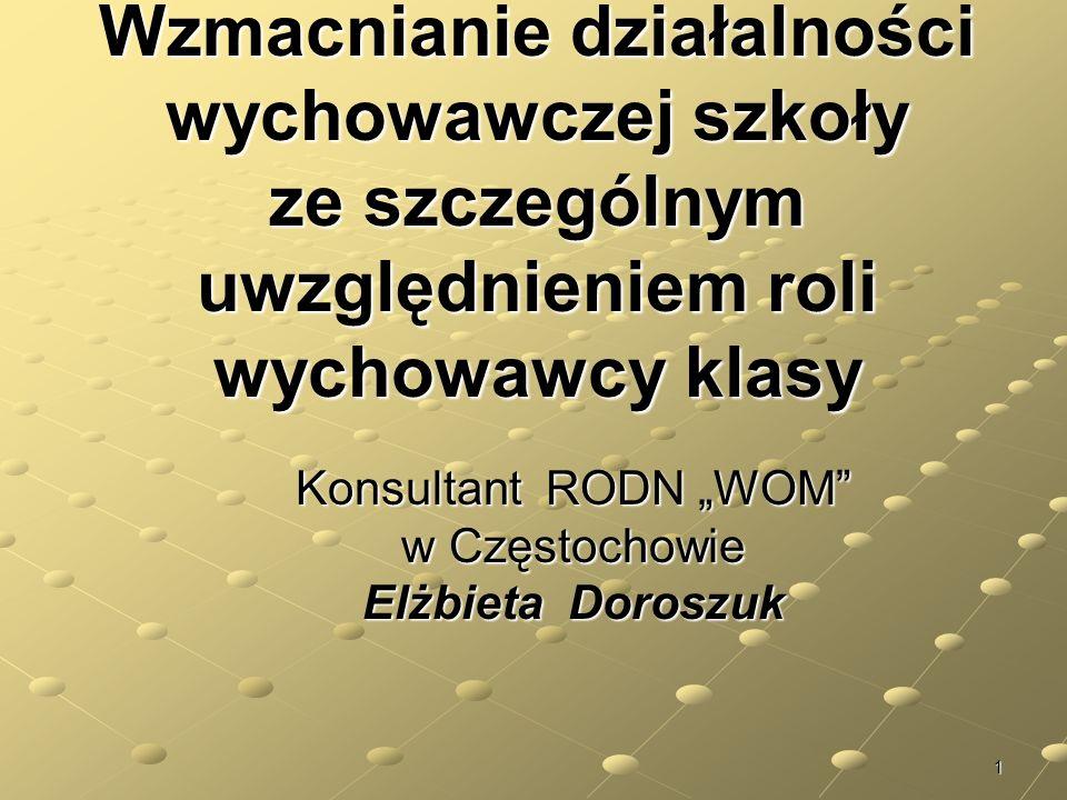 """Konsultant RODN """"WOM w Częstochowie Elżbieta Doroszuk"""
