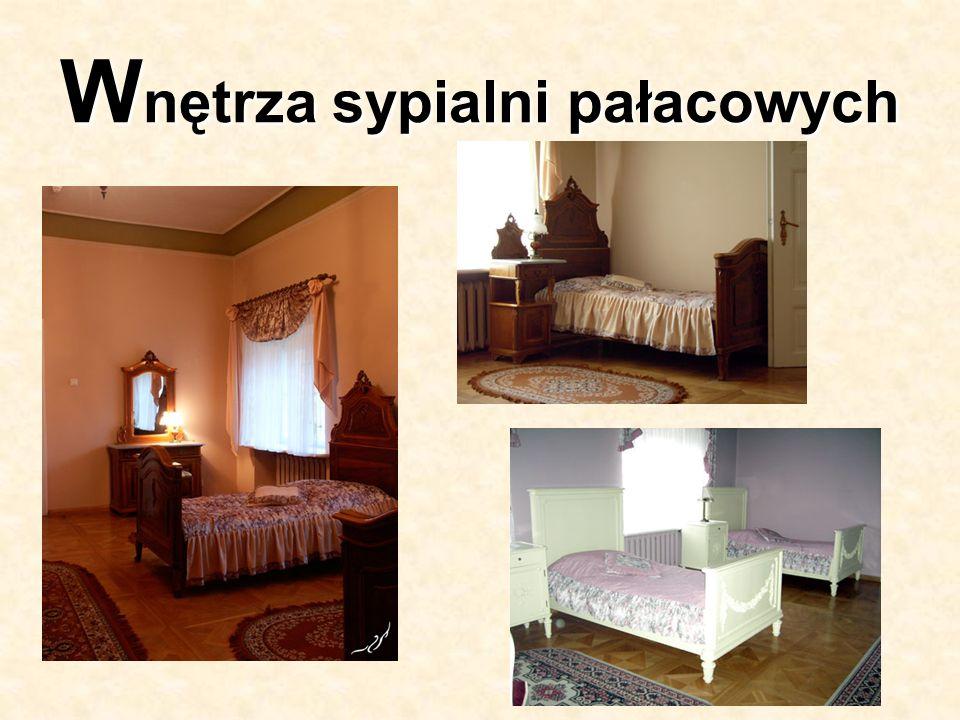 Wnętrza sypialni pałacowych
