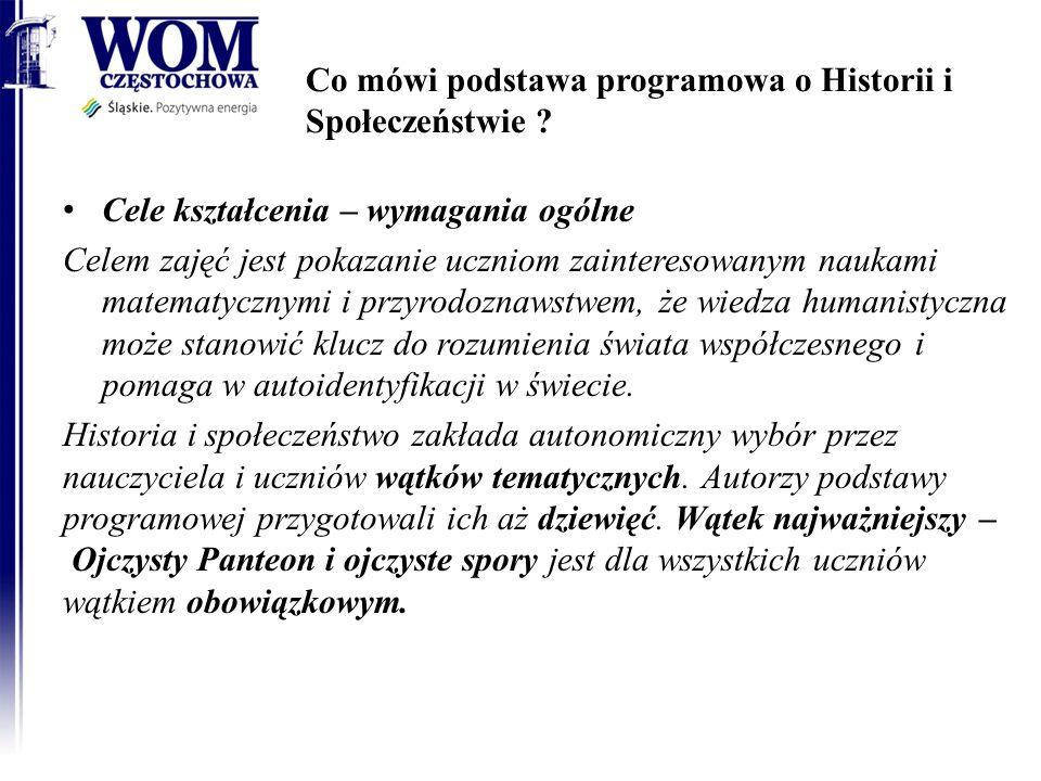 Co mówi podstawa programowa o Historii i Społeczeństwie