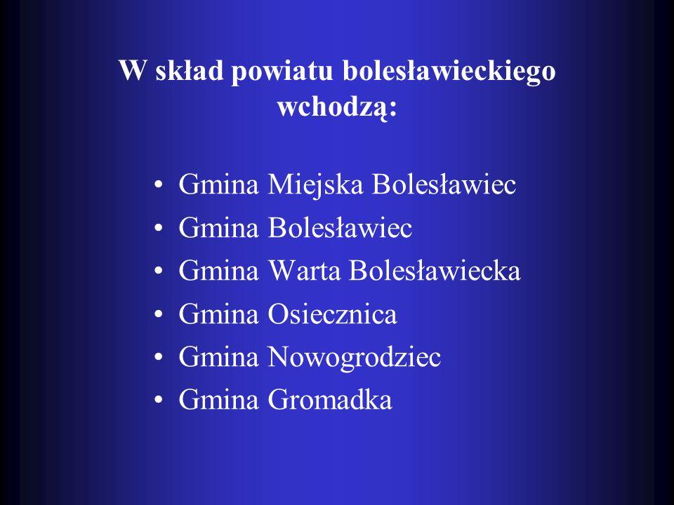 W skład powiatu bolesławieckiego wchodzą: