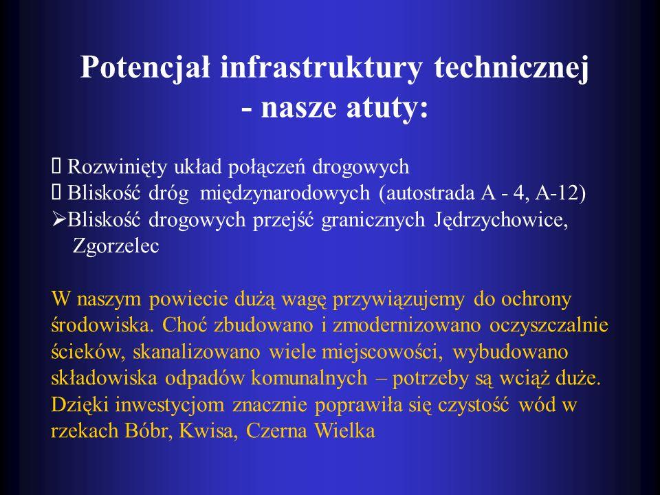 Potencjał infrastruktury technicznej - nasze atuty: