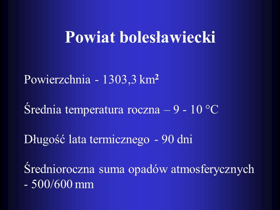 Powiat bolesławiecki Powierzchnia - 1303,3 km2