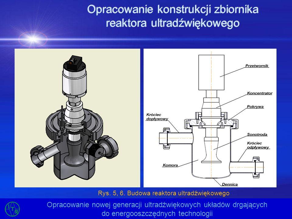 Opracowanie konstrukcji zbiornika reaktora ultradźwiękowego