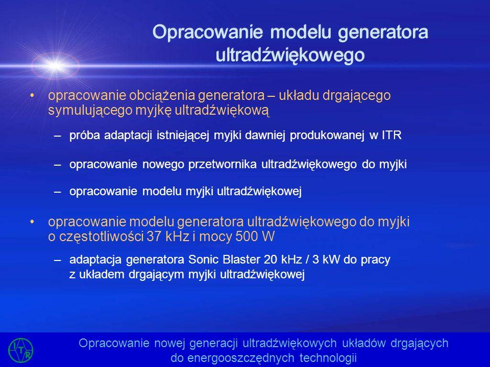 Opracowanie modelu generatora ultradźwiękowego