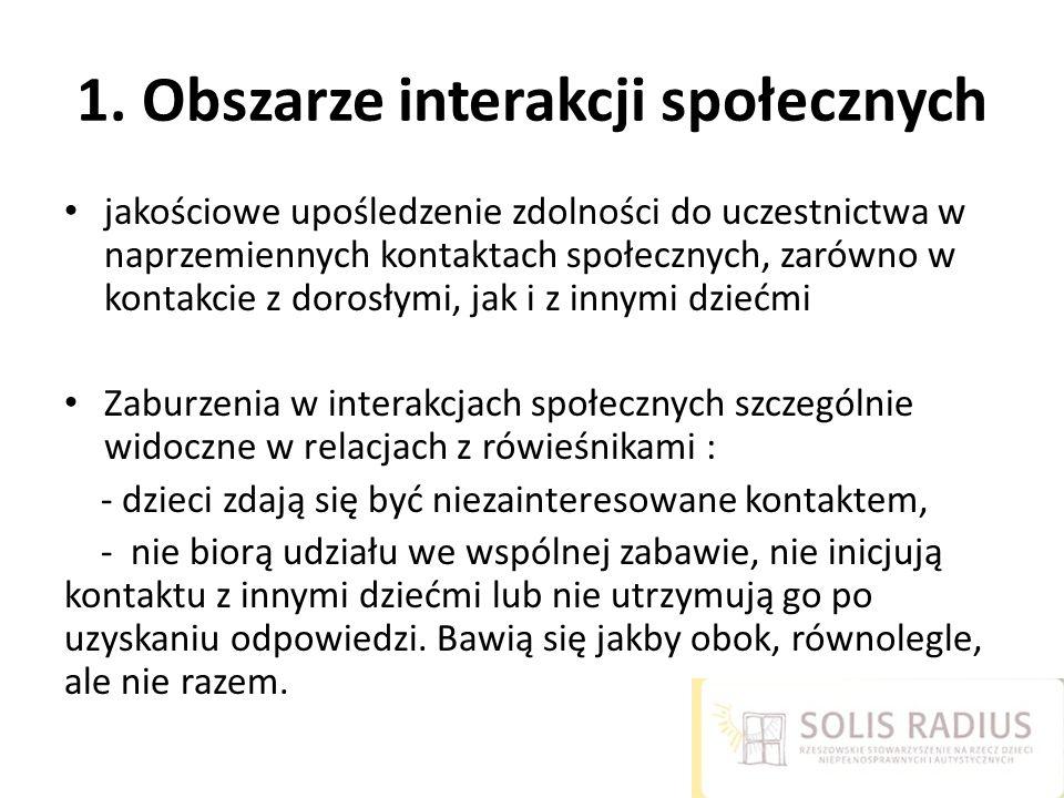 1. Obszarze interakcji społecznych