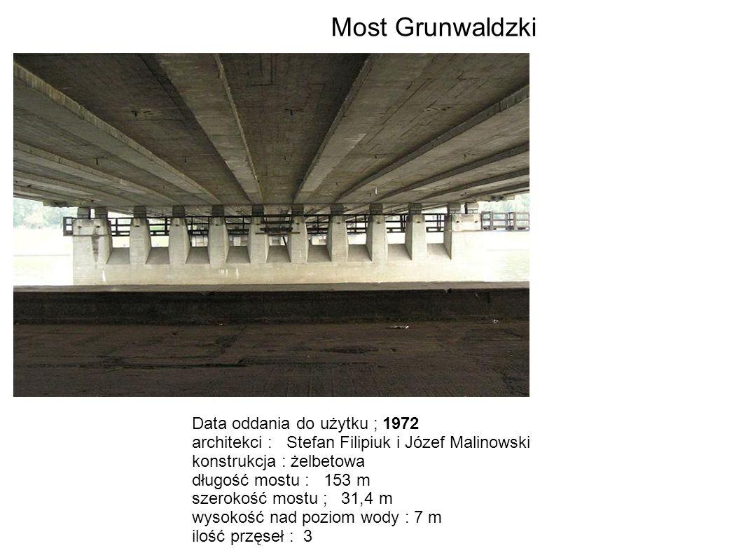 Most Grunwaldzki Data oddania do użytku ; 1972