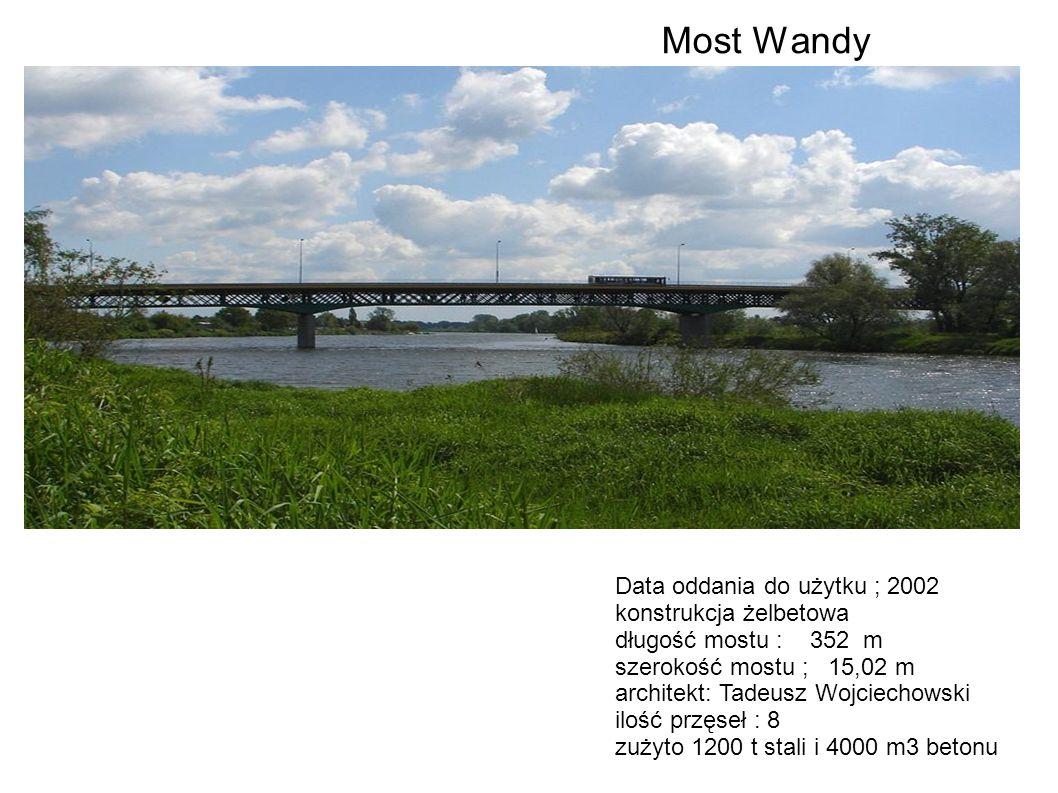 Most Wandy Data oddania do użytku ; 2002 konstrukcja żelbetowa