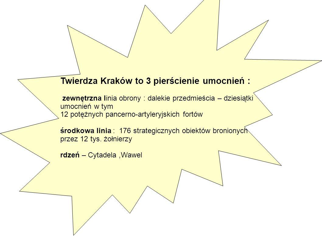 Twierdza Kraków to 3 pierścienie umocnień :
