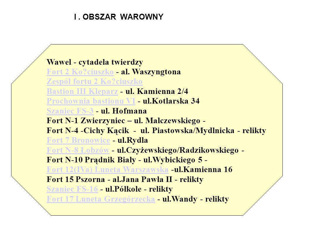 Wawel - cytadela twierdzy Fort 2 Ko ciuszko - al. Waszyngtona