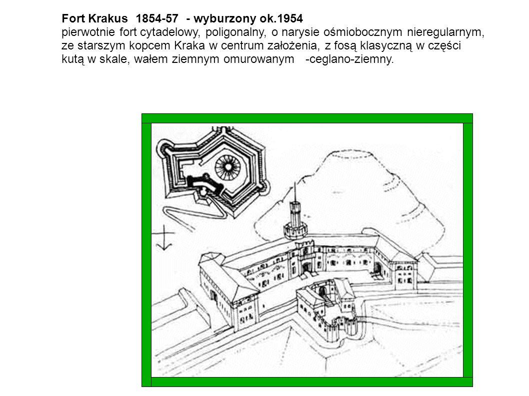 Fort Krakus 1854-57 - wyburzony ok.1954