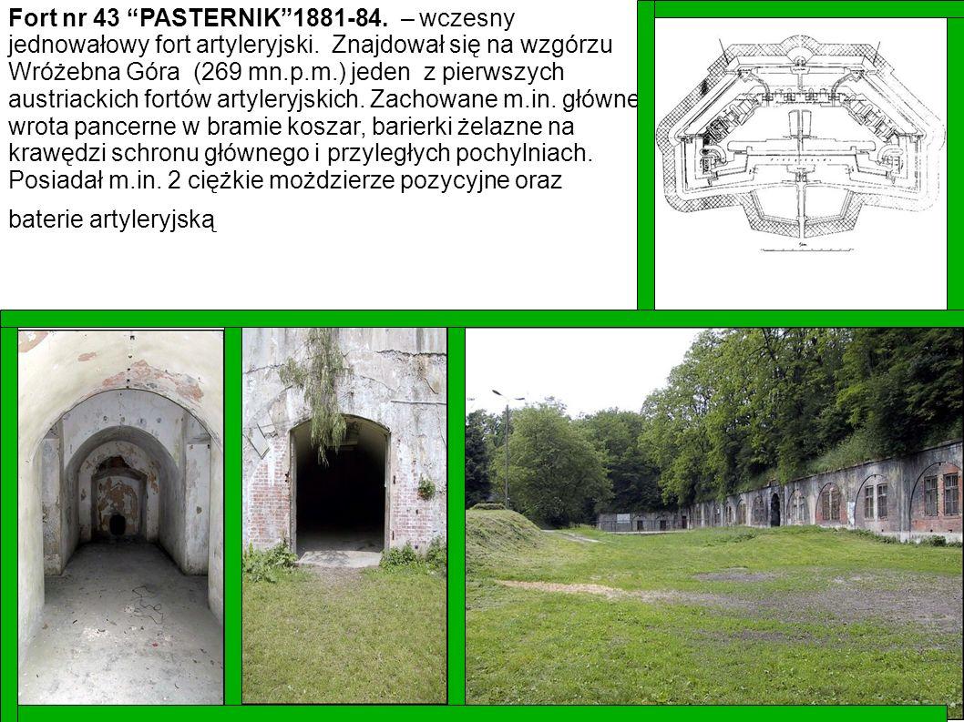 Fort nr 43 PASTERNIK 1881-84. – wczesny jednowałowy fort artyleryjski