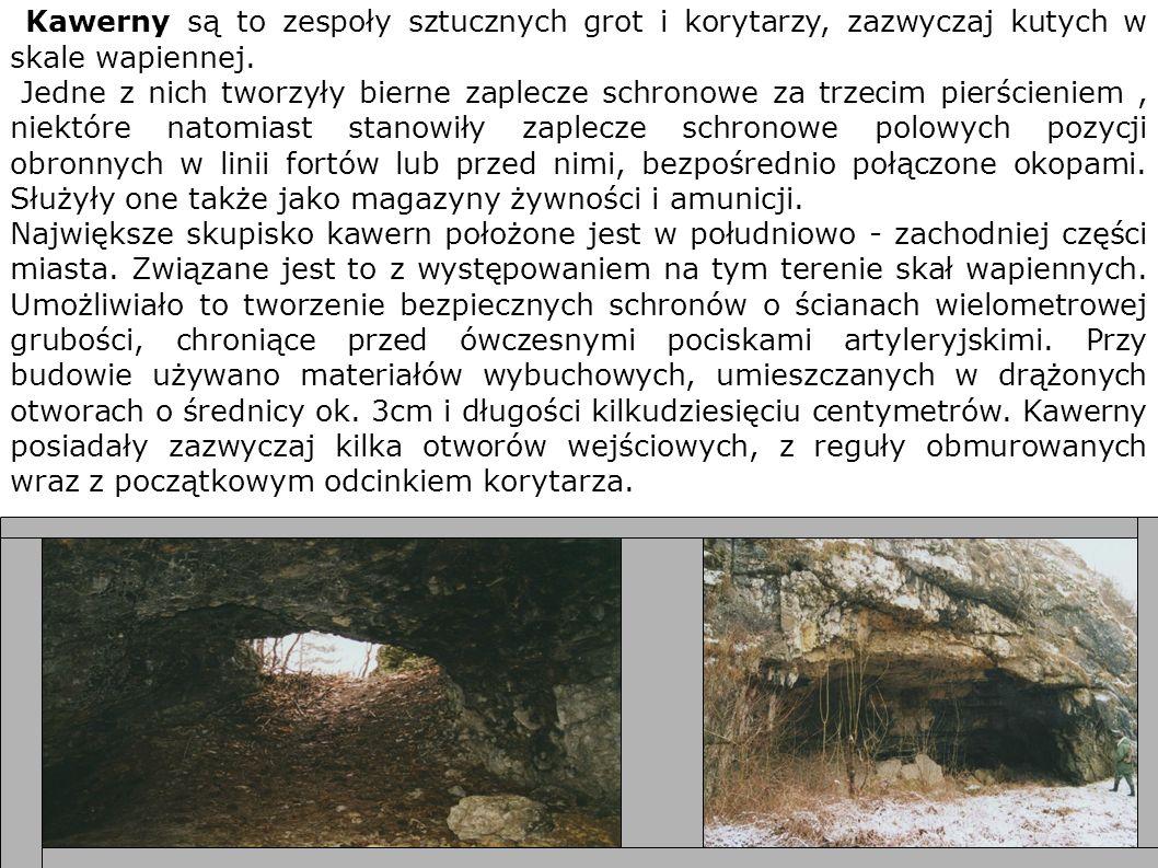 Kawerny są to zespoły sztucznych grot i korytarzy, zazwyczaj kutych w skale wapiennej.