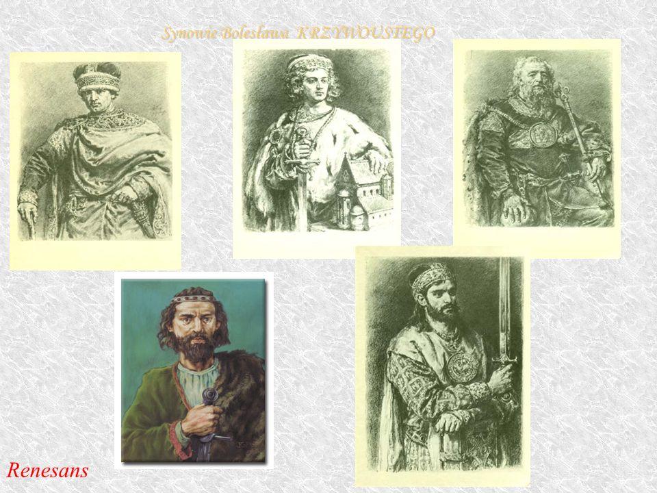 Synowie Bolesława KRZYWOUSTEGO