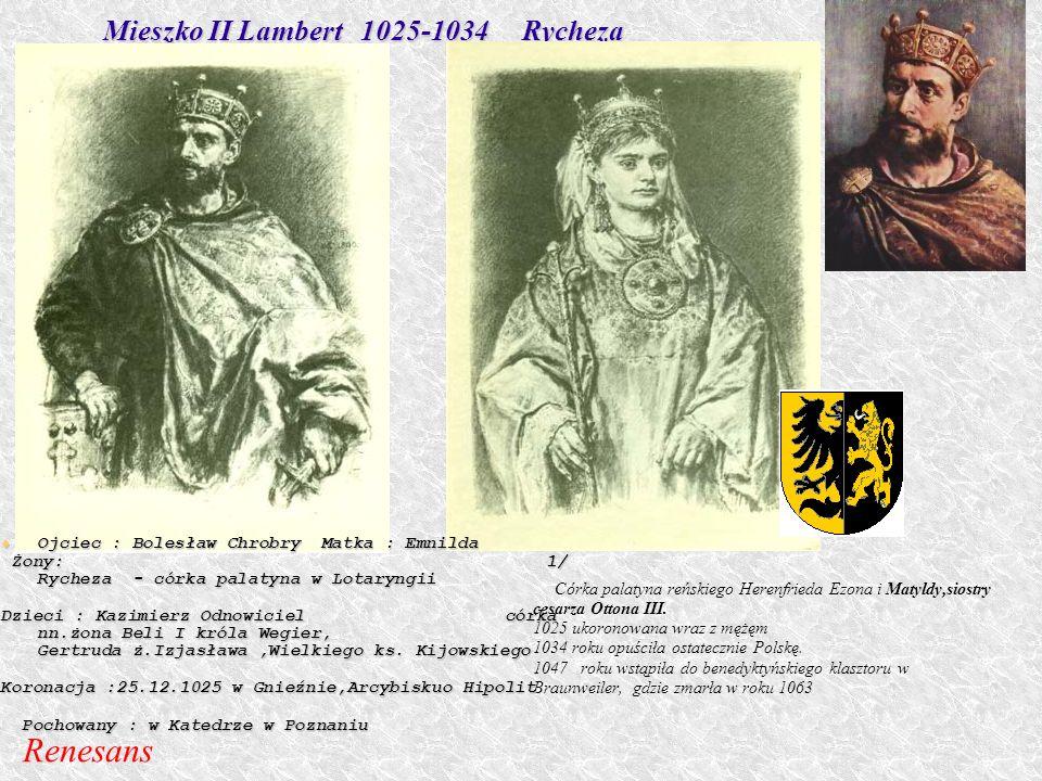 Mieszko II Lambert 1025-1034 Rycheza