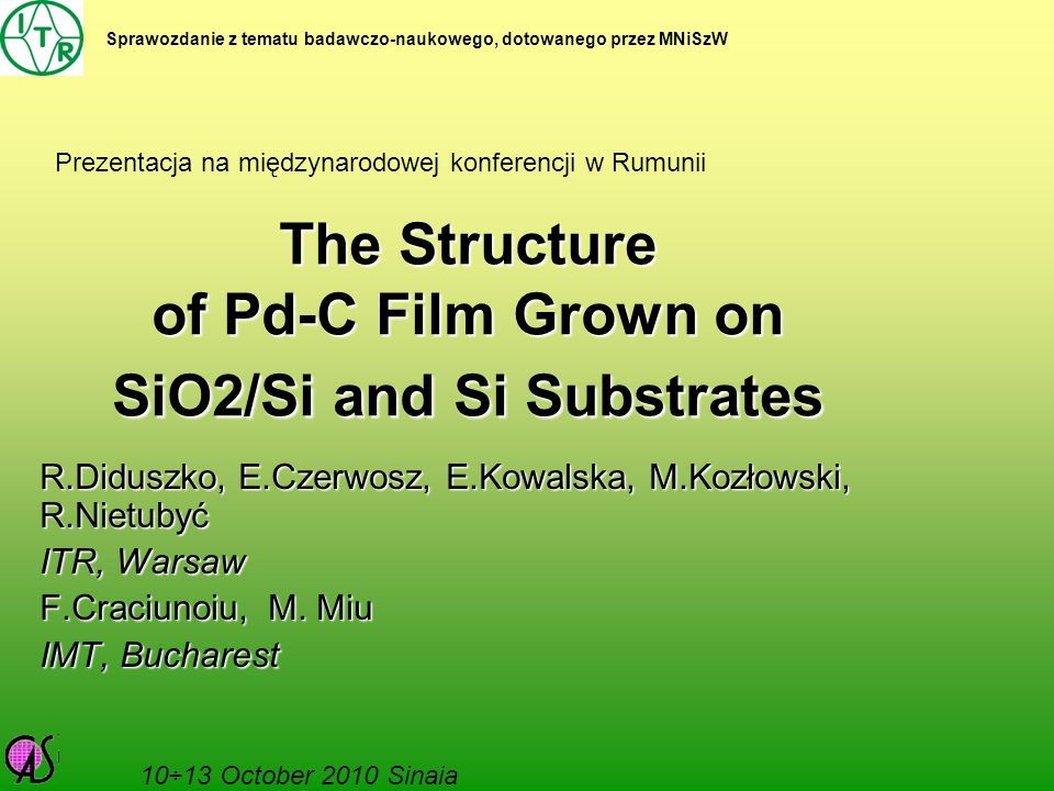 The Structure of Pd-C Film Grown on SiO2/Si and Si Substrates