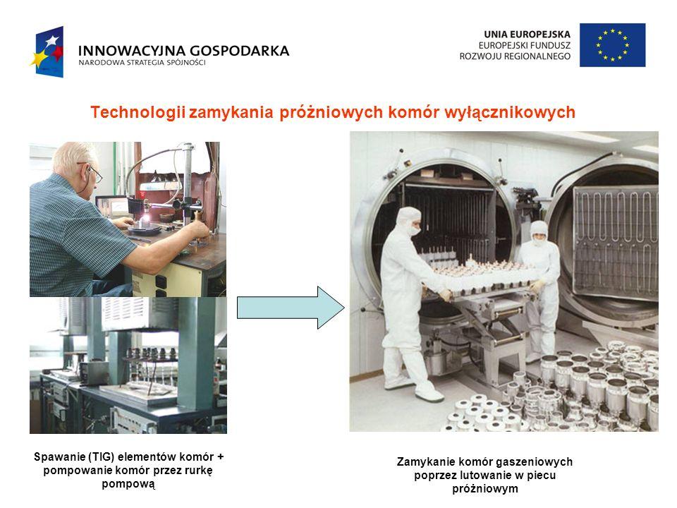 Technologii zamykania próżniowych komór wyłącznikowych