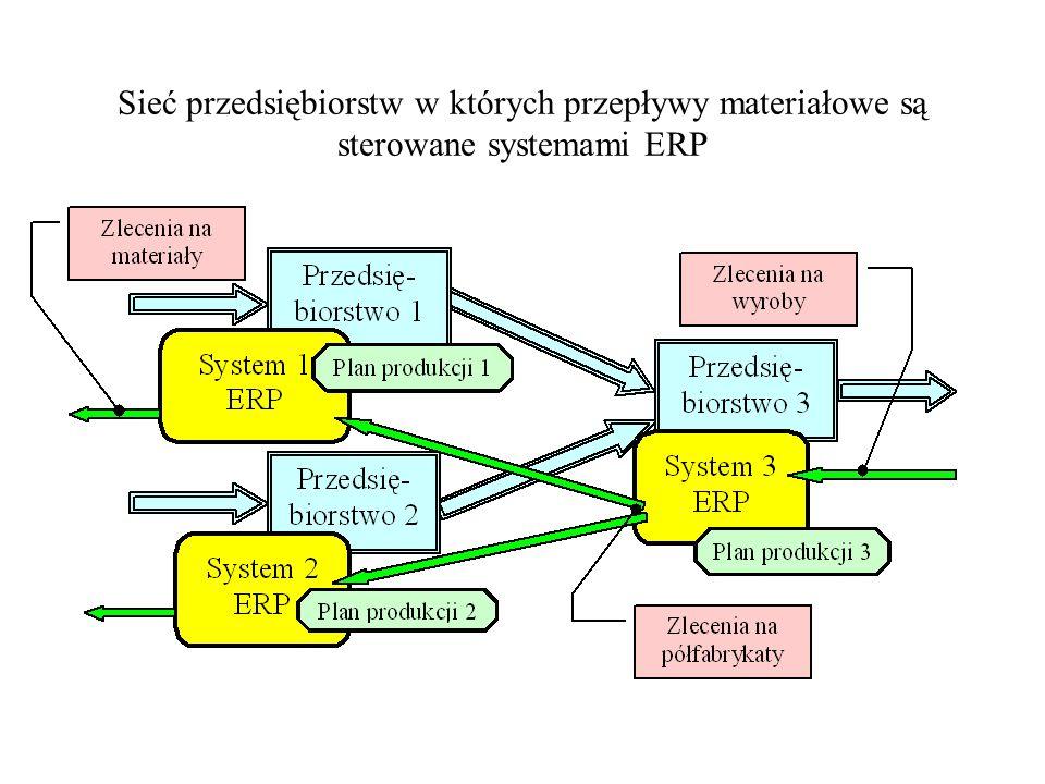 Sieć przedsiębiorstw w których przepływy materiałowe są sterowane systemami ERP