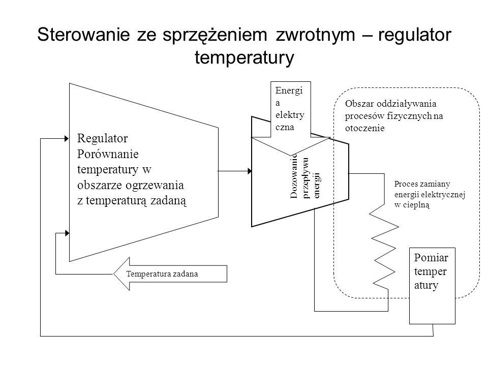 Sterowanie ze sprzężeniem zwrotnym – regulator temperatury