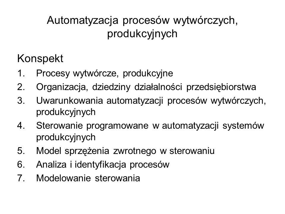 Automatyzacja procesów wytwórczych, produkcyjnych