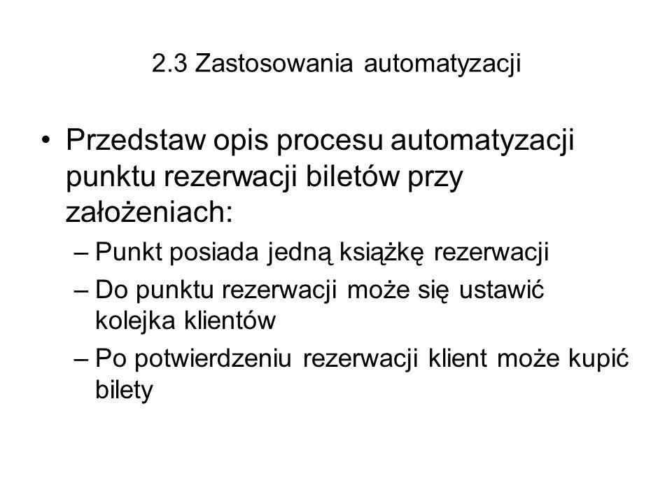2.3 Zastosowania automatyzacji