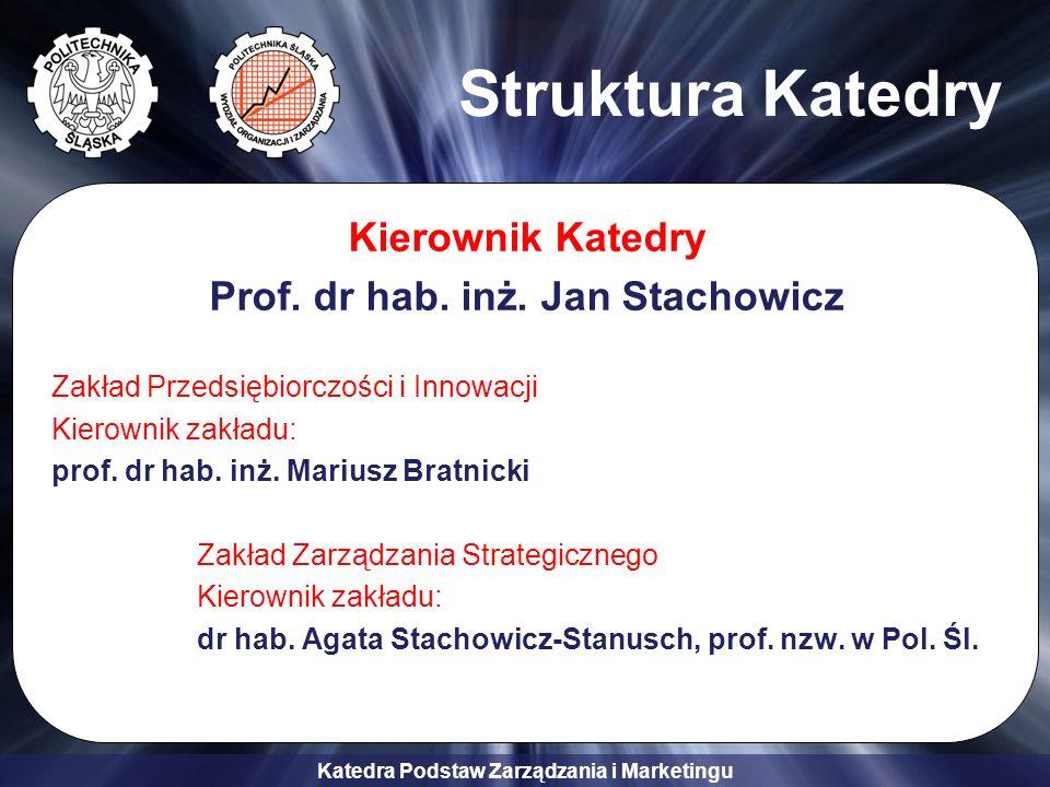 Prof. dr hab. inż. Jan Stachowicz